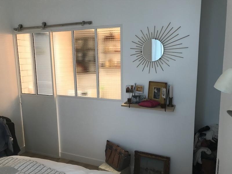 cloison vitrée metal blanc