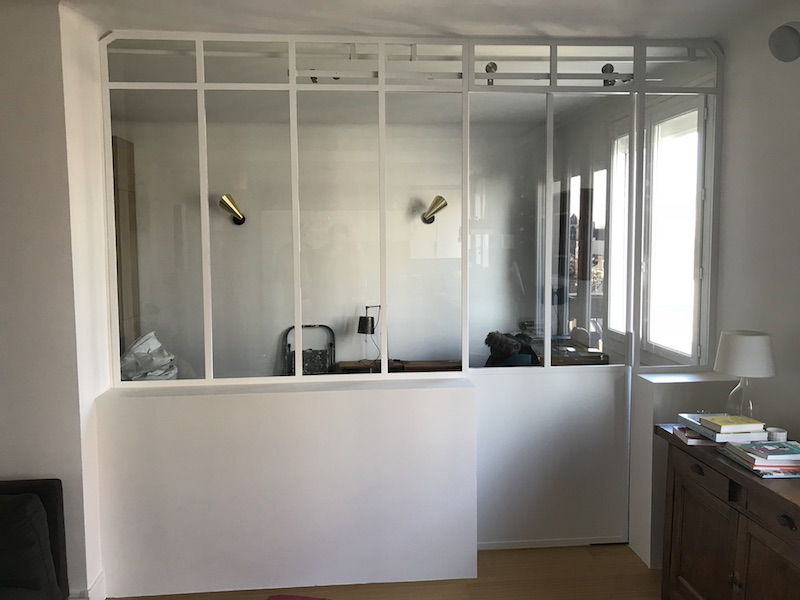 verriere-chambre metal blanc epoxy