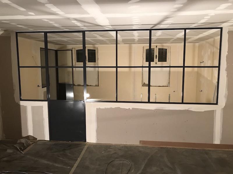 verriere-chambre salon metal verre 442