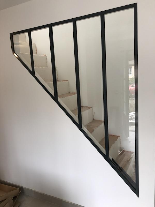 verrière escalier triangle