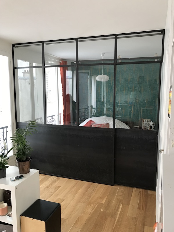 verriere metal chambre